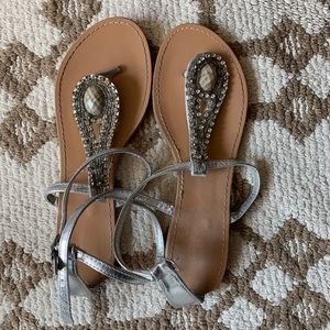 Shoes - Silver summer sandals